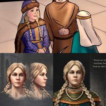 Recreation of Olga of Kiev and appearance in the novel