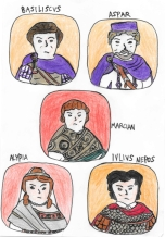Story Characters Set3- Basiliscus, Aspar, Marcian, Alypia, Julius Nepos