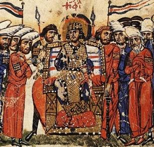 Byzantine senate depicted in the Madrid Skylitzes