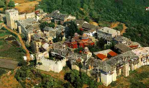 Great Lavra Monastery in Mt. Athos, built in Nikephoros II's reign (963-969)