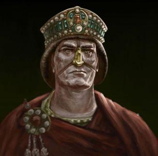Emperor Justinian II of Byzantium (r. 685-695/ 705-711)