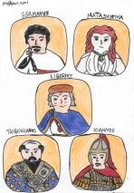 Story characters set3- Germanus, Matasuintha, Liberius, Tribonian, John the Sanguinary
