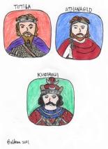 Story characters set4- Totila, Athanagild, Khosrow I