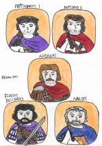 Story characters Set1- Justinian I, Justin II, Andreas, Belisarius, Narses