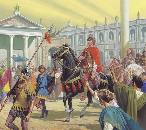 Theodoric enters Rome in the year AD 500