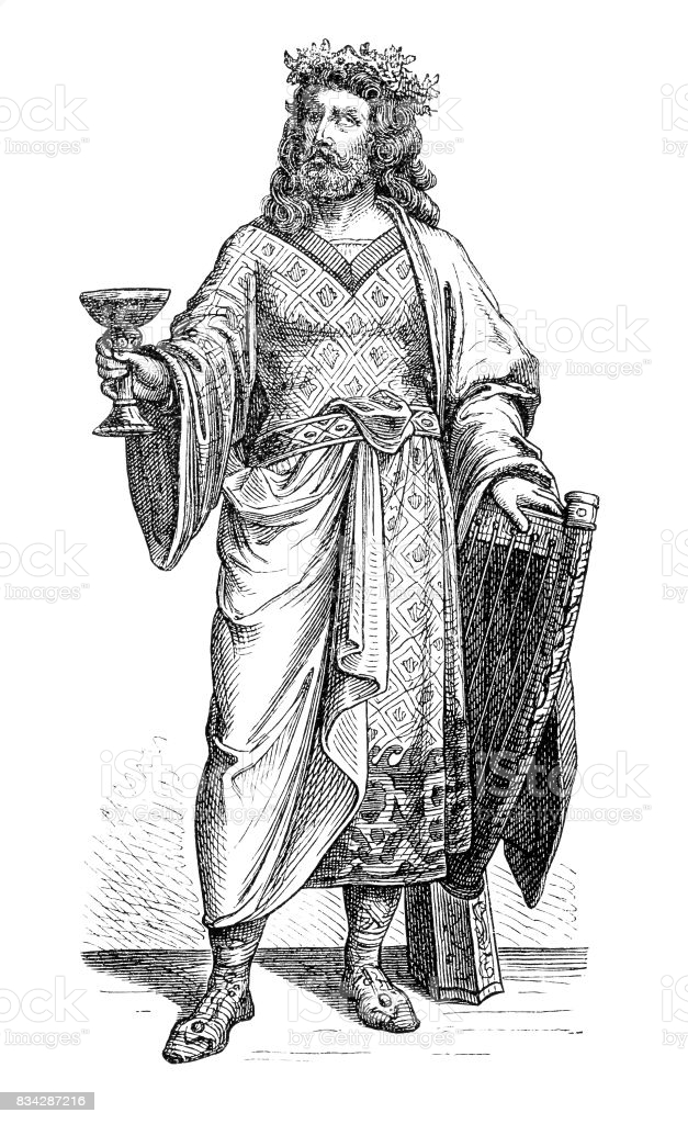 illustration of a Alboin (before 526-572/573), Lombard king