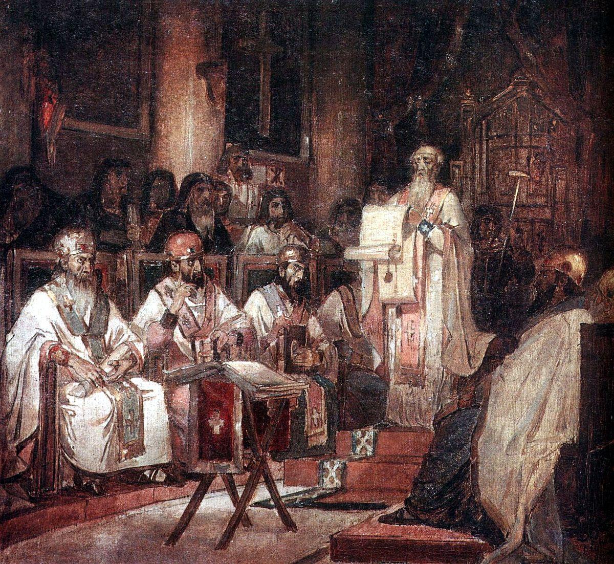 Second_Ecumenical_council_by_V.Surikov