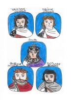 Story characters set2- Heraclius, Tiberius, Fausta, Theodosius, Kallinikos