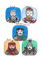 Story characters set3- Paul II, Martin I, Saborios, Yazid, Peroz