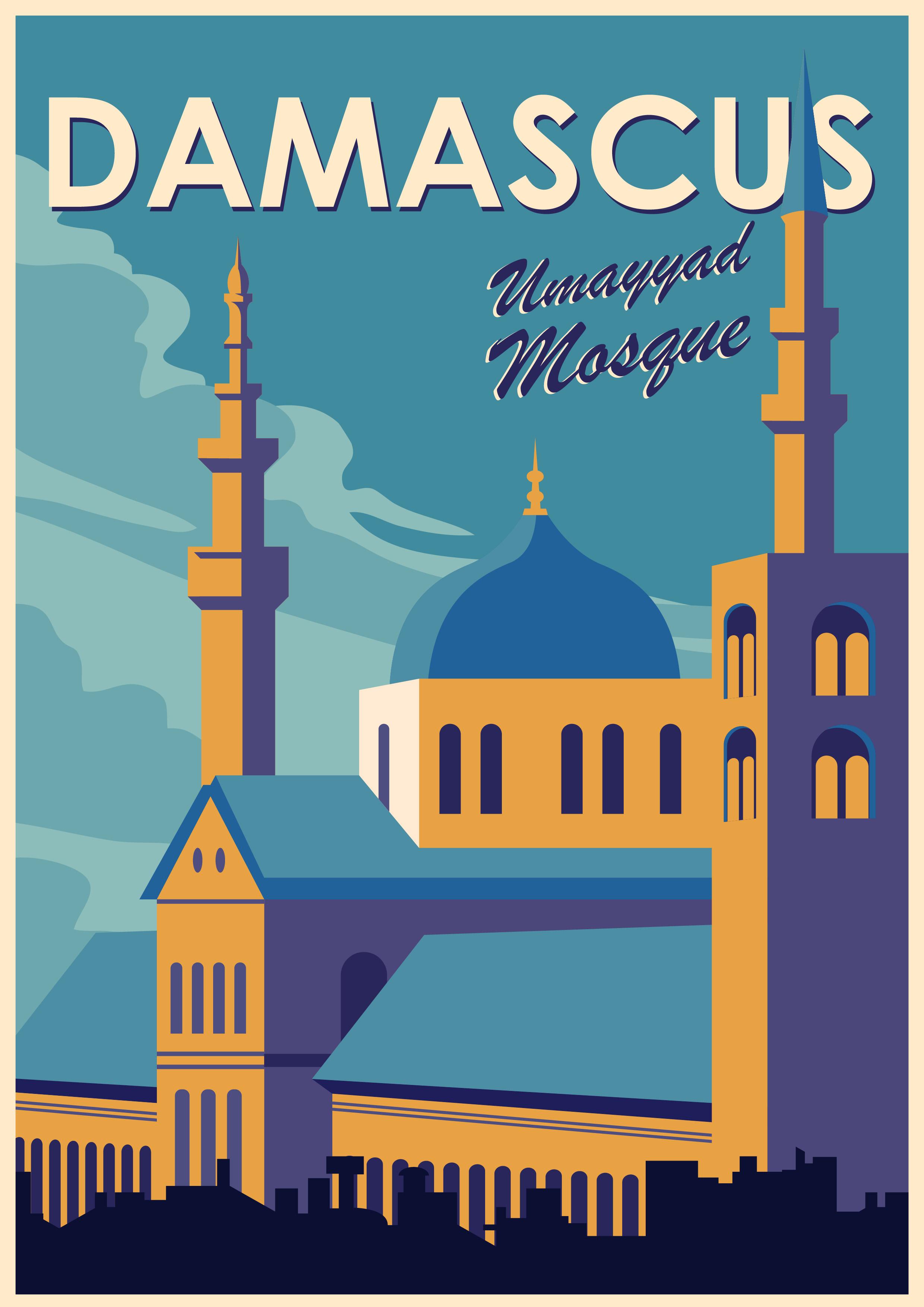 umayyad-mosque-damascus-vector