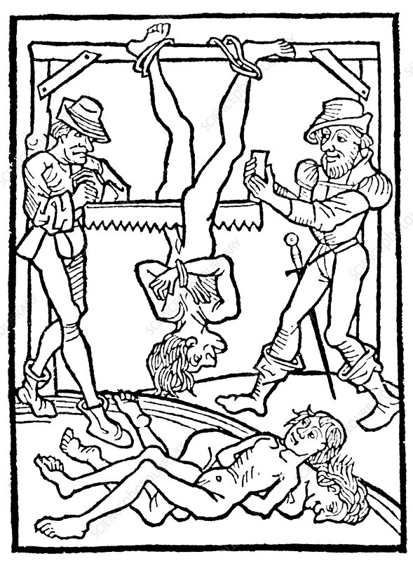 Medieval Execution, Death by Sawing, 1474