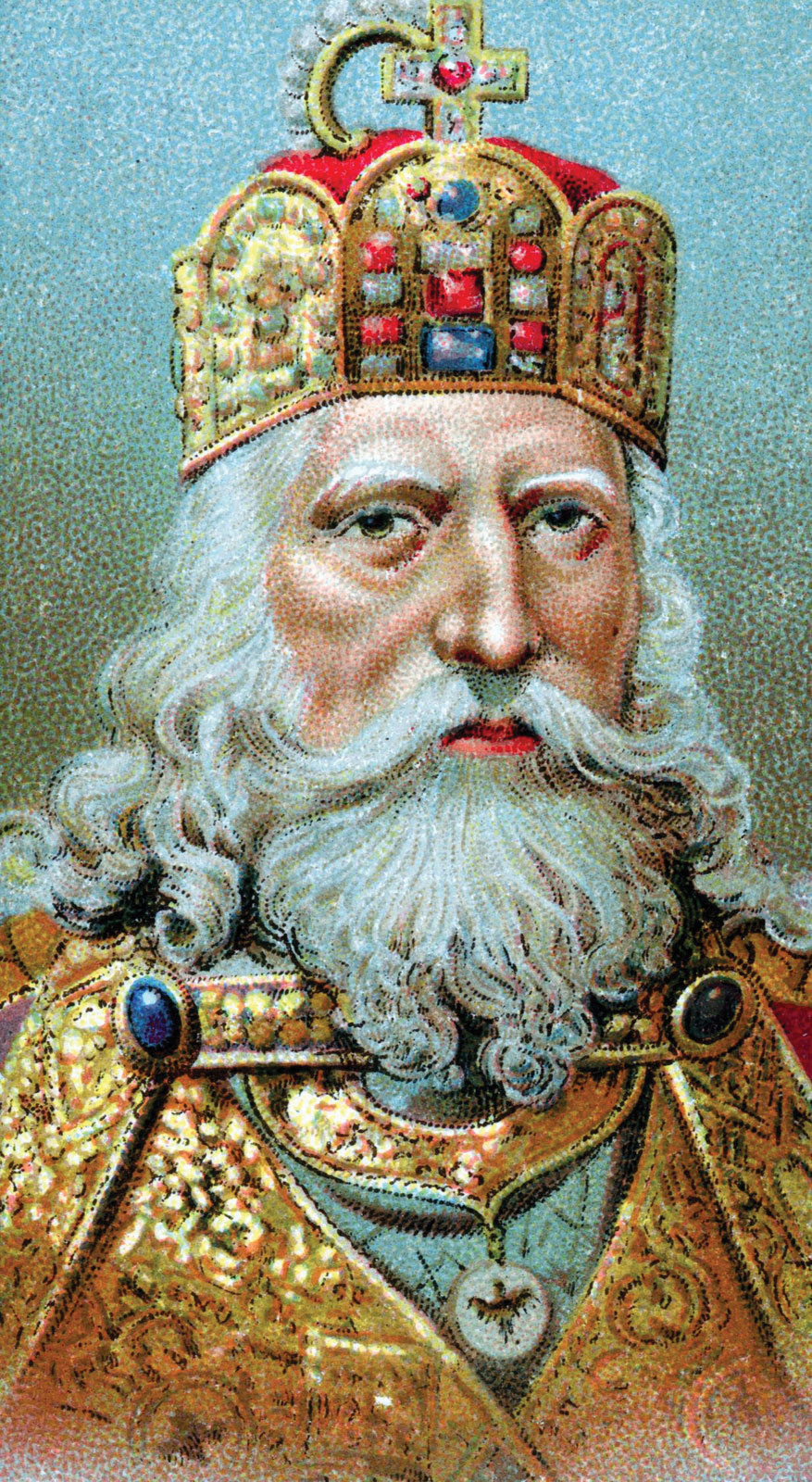 Charlemagne-chromolithograph
