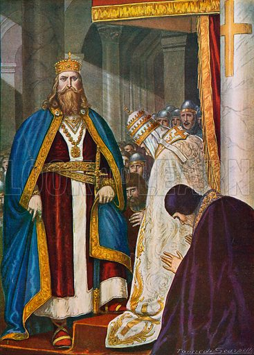Charlemagne crowned Roman Emperor on Christmas Day 800