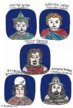 Story characters set3- John Doukas, Andronikos Doukas, Alexios Komnenos, Nikephoritzes, Nikephoros Bryennios