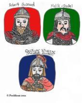 Story characters set4- Robert Guiscard, Malik-Shah I, Theodore Alyattes