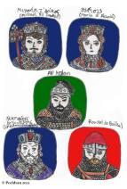 Story characters set2- Michael VII Doukas, Maria of Alania, Alp Arslan, Nikephoros III Botaneiates, Roussel de Bailleul