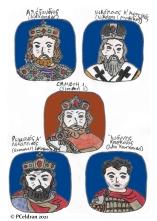 Story characters set1- Emperor Alexander, Nikolaos Mystikos, Tsar Simeon, Romanos I Lekapenos, John Kourkouas