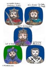 Story characters set3- Nikephoros II Phokas, Leo Phokas the Younger, John I Tzimiskes, Sayf al-Dawla, Polyeuctus