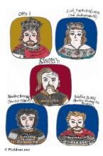 Story characters set4- Otto I, Zoe Porphyrogenita, Sviatoslav I, Bardas Skleros, Bardas Phokas the Younger