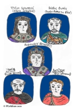 Story characters set2- Helena Lekapene, Bardas Phokas the Elder, Romanos II, Joseph Bringas, Basil Lekapenos