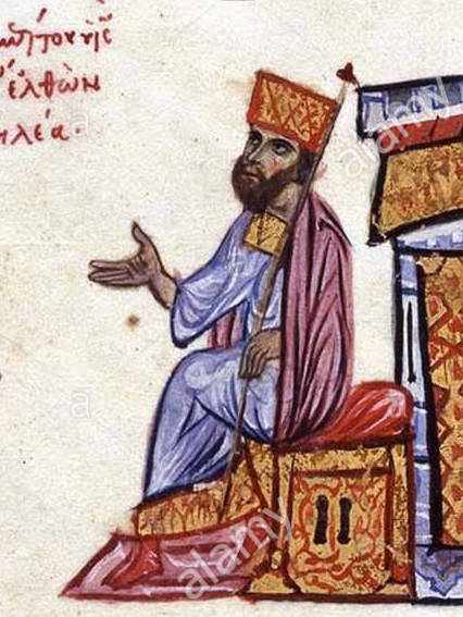 english-emperor-romanos-iii-argyros-receives-an-arab-delegation-led-by-amer-miniature-from-the-madrid-skylitzes-fol-204r-top-14-november-2012-203005-unknown-13th-century-author-1072-romanos-iii-receives-an-arab-delegation-led-by-amer-MNWWN1