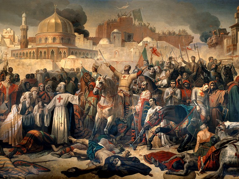 Taking of Jerusalem by the Crusaders by Emile Signol