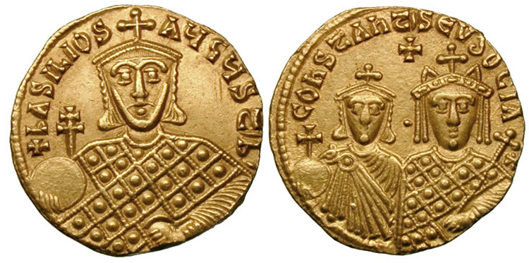 Solidus-Basil_I_with_Constantine_and_Eudoxia-sb1703