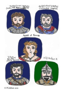 Story characters set2- Andronikos Kontostephanos, Andronikos Angelos, Agnes of France, Alexios Branas, Kilij Arslan II