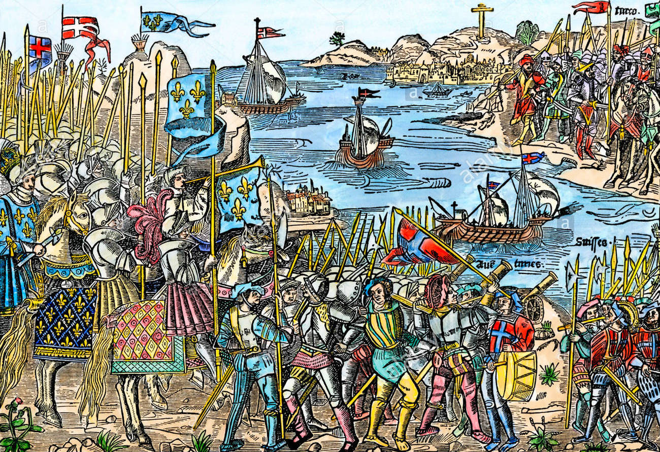 crusaders-setting-sail-for-jerusalem-from-damietta-in-northern-egypt-B35X42