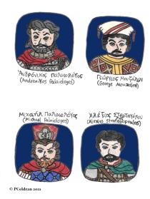 Story characters set3- Andronikos Palaiologos, George Mouzalon, Michael Palaiologos, Alexios Strategopoulos