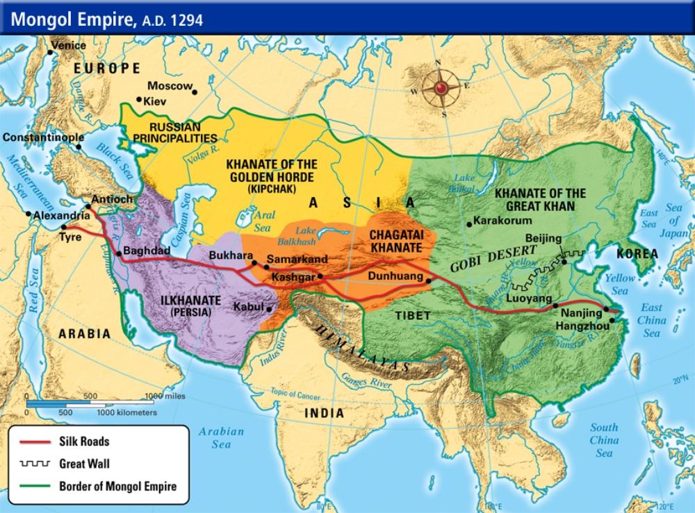 MONGOL+EMPIRE+MAP