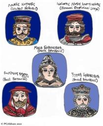 Story characters set2- Loukas Notaras, Giovanni Giustiniani, Mara Brankovic, Basil Bessarion, Durad Brankovic